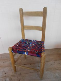 Kids Chair upcycled furniture mens ties