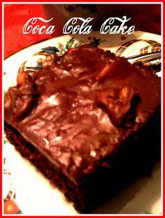 sweet tea, cakes, food, southern thang, cornbread, cocacola, coca cola cake, recip, dessert