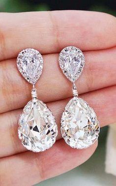 bridal earrings. love!