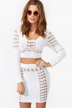 Tejidos - knitted - Dawn Crochet Skirt