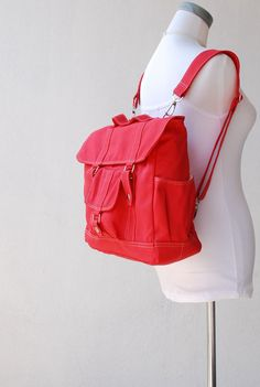 New Year SALE  Pico2 Backpack  in Cherry Red Water by nottoc, $59.00