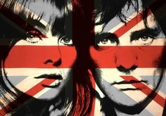 What's more Mod than a Union Jack superimposed over Jean Shrimpton and Terence Stamp?