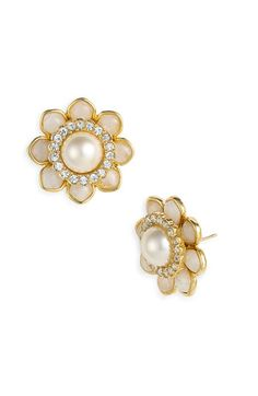 pearl & diamond studs