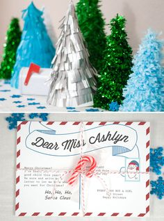Adorable Letters to Santa Party