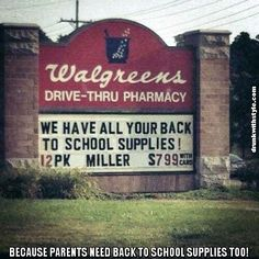 Because Parents Need Back To School Supplies Too