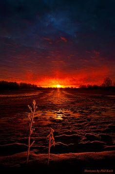 ♂ Rich sunset Winter's Goodbye by Phil Koch
