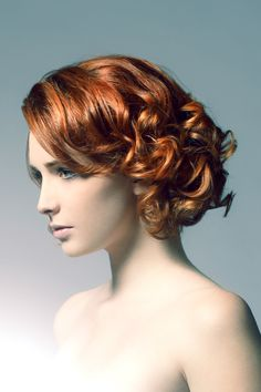 Curls in   red hair