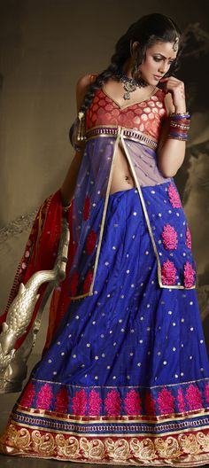 Go #traditional this #festival. Wear Free-flowing #Lehenga to give a more voluminous look.   Code:81846
