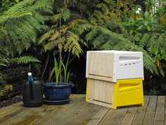 Stackable beehives for the beginning urban beekeeper. And they look swish.
