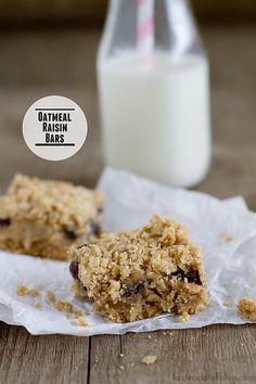 Oatmeal Raisin Bars - Taste and Tell