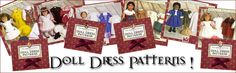 Doll Dress Patterns original AG patterns to download