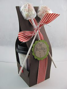 Cocoa To Go - this would be cute with a Starbucks gift card too