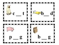 FREE Phonics Cards and Worksheet! Pairs well with my FREE Short Vowels Interactive Notebook Activity
