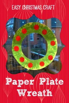 Easy Christmas Craft for Little Hands - Paper Wreath & Circle Song