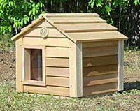 Outside Cat House - 20 Inch Cedar Cat House : Size SMALL CEDAR - NO INSULATION - by Blythe Woodworks   - Price: $213.00 - #outdoorcathouse #outsidecathouse #catoutsidehouse #cat #outdoor #outside #house http://www.catbedandtoy.com/outdoorcathouse