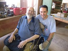 Hanging one last time with Frank David of Midwest Woodworking.