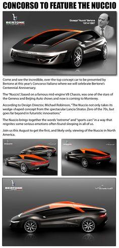 """Giuseppi """"Nuccio"""" Bertoni's concept car is incredible."""