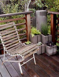 concrete block planters!