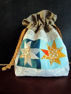 Scrappy Star pouch by StitchedInColor, via Flickr