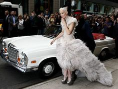 Daphne Guinness paid tribute to her dear friend Alexander McQueen in a feathered confection that looked like she had just hatched, in the chicest possible way of course. Met Party