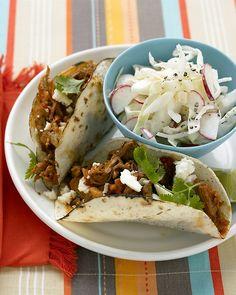 Shredded-Pork Tacos Recipe. Cinco de Mayo on my mind. // Martha Stewart.
