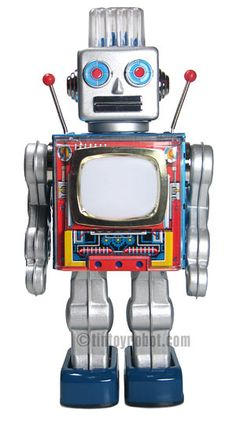 Robot Toy made by Metal House | Vintage and Retro Space Age Raygun, Rocket and Robot Toys | Sugary.Sweet | #SpaceAge #Toy #SciFi