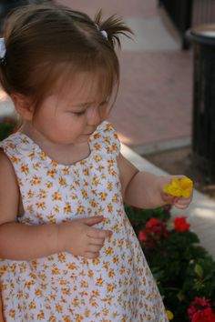 Sweet Yellow Flower Print Dress by PaisleyLynneBoutique on Etsy,