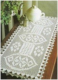 gorgeous..charted pattern..chemins de table-