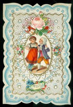 Valentine w Lace Paper Dancing Couple