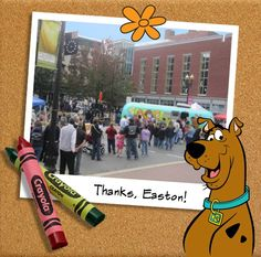 Thanks to our buds at Crayola, the Gang was able to solve even more mysteries during their adventures to the Crayola Experience Store in Easton, PA! Check out Scooby featured on his own Color Wonder products.