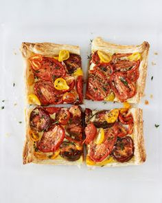 roasted tomato tart / via pictures and pancakes tarts, food, roast tomato, summer tomato, pancakes, summer tart, yummi, tomato tart, tomatoes