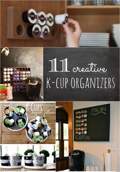 11 creative k-cup organizers. Get those pesky cups organized and looking cute with these clever ideas!