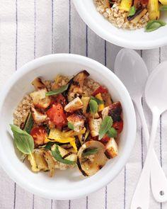 Grilled Ratatouille and Bulgur Salad