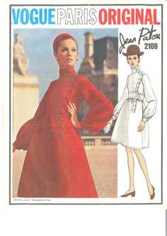 Mega RARE Vogue Paris Original 2109 by Jean Patou Sz 10 Bust 32.5 by RetroStyleBoutique, $155.00