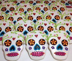 SweetTweets - Dia de los Muertos / Day of the Dead Skull cookies