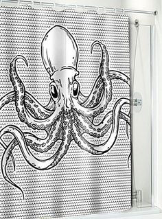 Octo shower curtain!