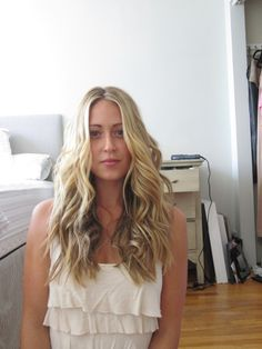 beach waves with a flat iron