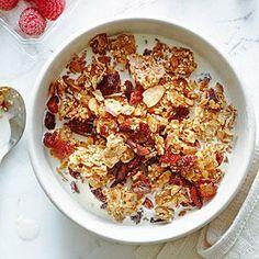 Sesame, Almond, and Cherry Granola | MyRecipes.com #myplate #wholegrain #fruit #dairy