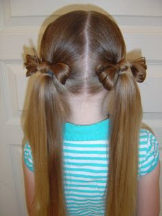 A fun spin on the classic pigtail #pigtails #hairbow #hairstyles