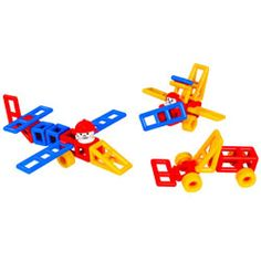 Mobilo.  Set of 120 pieces.  Great manipulative toy, very engaging and totally open-ended, each child will create completely different structures. Builds small muscles, enhances eye-hand coordination, perfects spatial relations...  This is a good starter set, but be aware that it will soon not have enough pieces for all they will want to build.