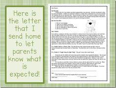 Parent behavior letter