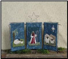 The Nativity l Punch Needle
