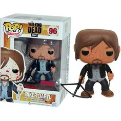 The Walking Dead Pop! Vinyl Figure Blood Splattered Biker Daryl : Forbidden Planet how cute ?!