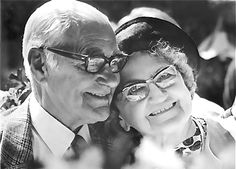 adorable old couple