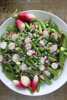 Avocado, Asparagus, Pea and Radish Sesame Salad @Heather Creswell Creswell Christo