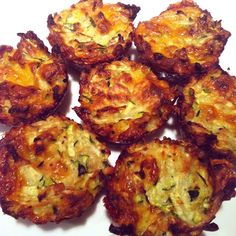 Easy Zucchini Bites Appetizer  Made these tonight...2cups shedded zucchini, 2 eggs, 1/2 cup Italian bread crumbs, 1/2 cup chedder, onion & garlic powder, salt & pepper. Put in a muffin tin and bake 350 for about 20-25 minute depending on size.  very yummie.. even my boys loved them!