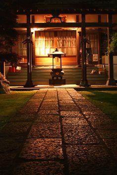 Temple path at night - Chiba, Japan: photo by Damon Bay, via Flickr