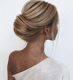 Updo hairstyle bridal
