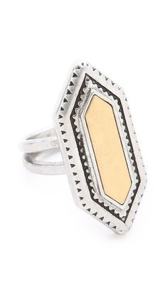 textured statement ring / madewell