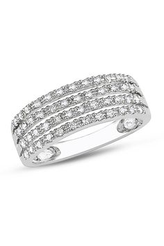 0.25 CT Diamond Fashion Ring In 10k White Gold